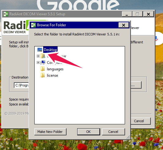 Instructions to install portable version of Radiant DICOM viewer